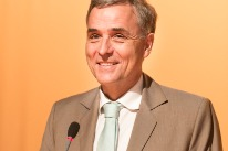 President of the Basel Government Guy Morin during his address on 'Guest of honour day ' at Comptoir Suisse 2013.