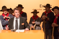 President of the canton of Jura, Michel Probst, during his address on 'Guest of honour day ' at Comptoir Suisse 2013.